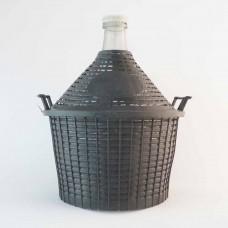 Glasballon 10 Liter im Kunststoffkorb