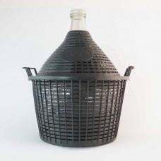 Glasballon 15 Liter im Kunststoffkorb