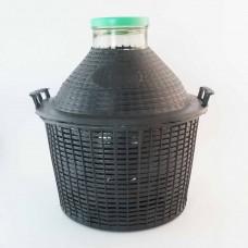 Weithalsballon 25 Liter im Kunststoffkorb
