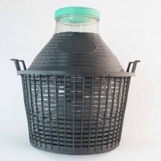Weithalsballon 15 Liter im Kunststoffkorb