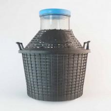 Weithalsballon 10 Liter im Kunststoffkorb