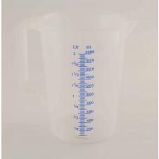 Messbecher Kunststoff 2 Liter