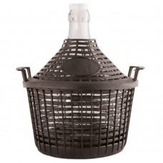 Glasballon 5 Liter im Kunststoffkorb