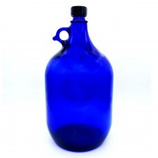 Glasballon blau 5,0 Liter inkl. Schraubverschluss PP 35