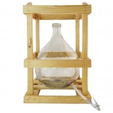 Glasballon 10 Liter im Holzgestell