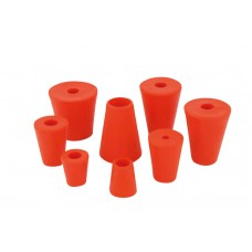Gummi-Stopfen rot Ø 50-70mm mit 17mm Bohrung
